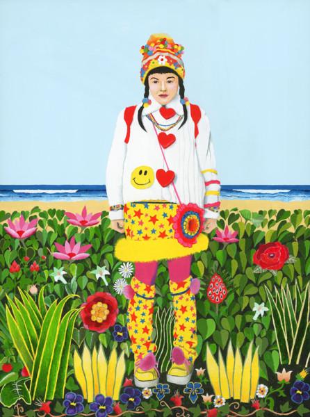 Fruit Girl at the beach 1
