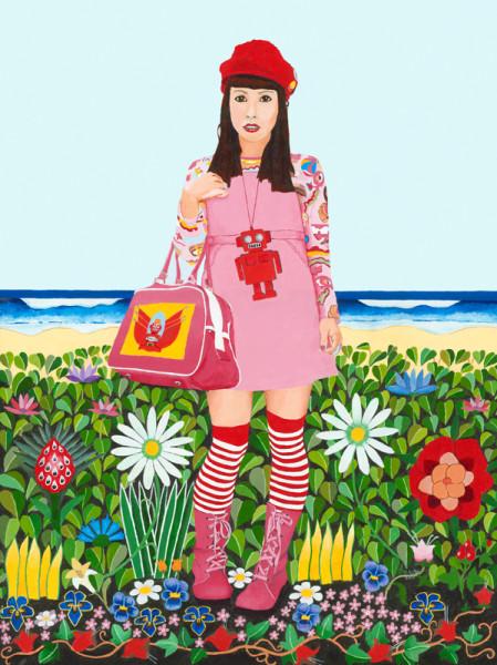 Fruit Girl at the beach2