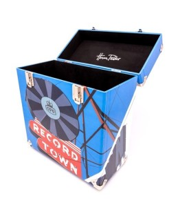 HMV record box lp storage case