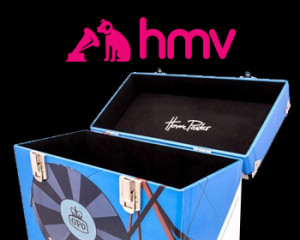 Record box in HMV stores for Vinyl Week 2017
