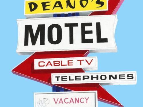 Deanos Motel Sign