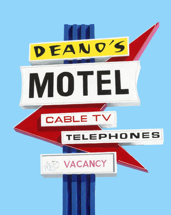 Deanos Motel Sign