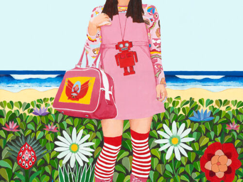 Fruit Girl at the beach2