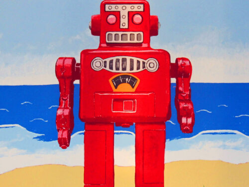 Robot At The Beach print edition