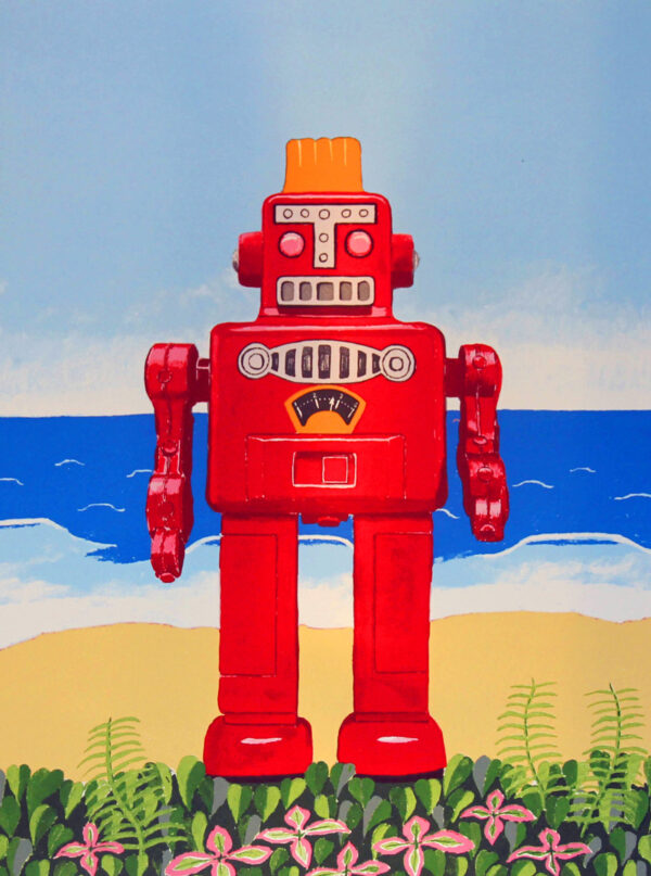 Robot At The Beach print edition